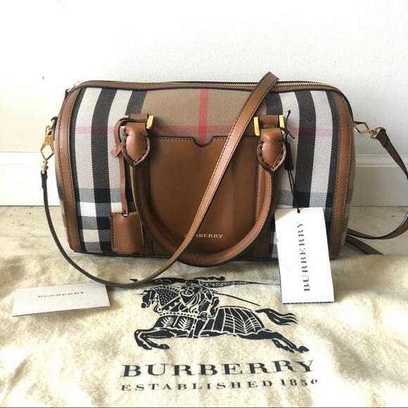 6c9008c5596 Burberry Bags   House Check Sartorial Medium Bowling Bag   Poshmark